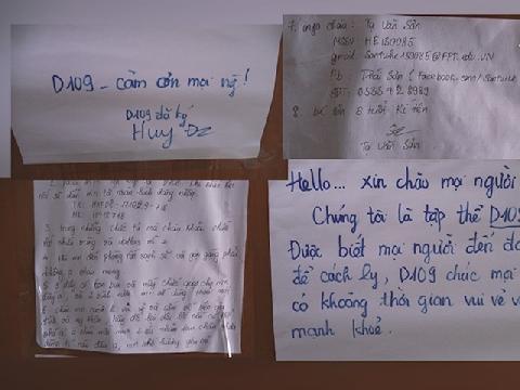 Lời nhắn dễ thương của SV nhường phòng cho người cách ly Covid-19