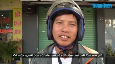 Người Sài Gòn làm quen lối sống khác khi tiệm cắt tóc đóng cửa chống Covid-19