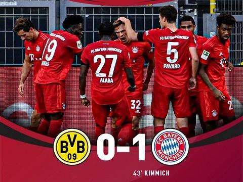 Borussia Dortmund 0-1 Bayern Munich (Vòng 28 Bundesliga)