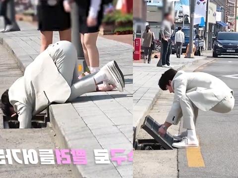 Fan phát sốt với clip Ji Chang Wook lật nắp cống để cứu mèo