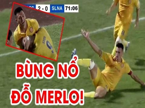 Đỗ Merlo ghi 2 bàn trong 2 phút, Nam Định 'nhấn chìm' SLNA ngay tại Thiên Trường